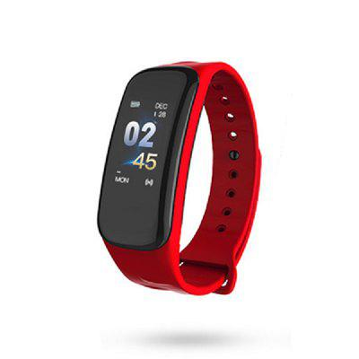 C1plus Fitness Tracker Smart Bracelet Color Screen Heart Rate Monitoring Step Counter TPU Anti-watercolor Screen Sports Bracelet For Android IOS