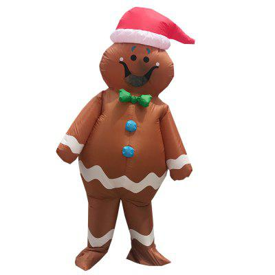 Gingerbread Man Halloween Inflatable Costume Party Cosplay Costumes Fancy Anime