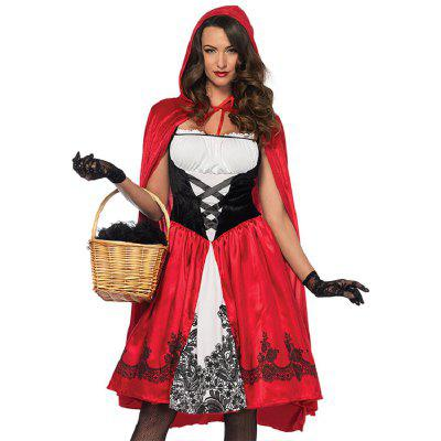 Фото - Halloween Funny Hood Cosplay Costume Fairy Tale Queen Dress With Removable Cloak Party Helloween Character Fancy Dress Masquerade For Women Girls bear leader girls dress 2018 new spring