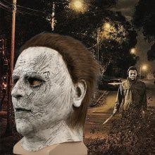 Get Halloween Mask Cosplay Mask Horror Mcmel Michael Scary Mask Adult Movie Latex Full Face Masks Headgear Carnival Party Helloween Costume Props Just for $26.99