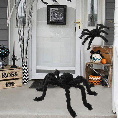 Halloween Prop Horror Giant Black Spider Kids Children Haunted Plush Scary Toys For Party Event Decoration Gifts