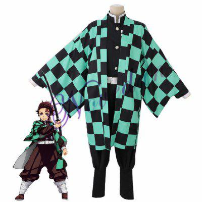 Halloween Anime Costume Demon Slayer Cosplay Uniform Men Kimono Gifts to Friend