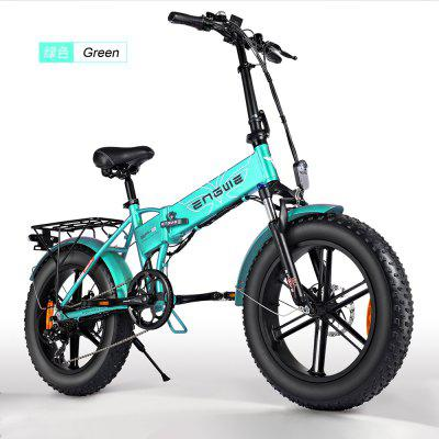 ENGWE 20 inch Fat Tire Electric Bicycle Mountain Beach Snow Bikes for Adults Electric 7 Speed Gear E-Bike with Removable 48V12.5A Battery Image