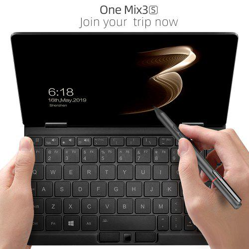 One Netbook One Mix 3S Yoga 8.4 Inch Pocket Laptop Ultrabook Windows 10 Portable Mini Laptop Tablet - Black 16GB RAM 512GB