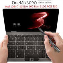 One Netbook One Mix 3 PRO Platinum Edition Yoga 8.4 Inch Mini Pocket Laptop Ultrabook UMPC Tablet PC