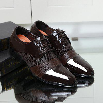 Business Leather Shoes Lace-Up Men Shoes Real Leather Shoes Casual Shoes