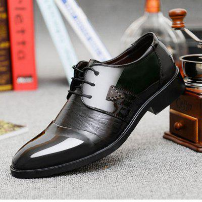 Men Leather Shoes British Style Middle Top Hand-stitching Casual Shoes