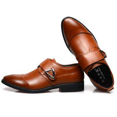 Fashion Casual Pointed Men Leather Shoes Business Men Work Shoes Wedding Shoes