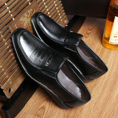 Men Casual Work Shoes Office Black Ultra-light Four Seasons Business Casual Shoes