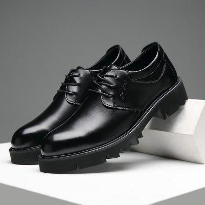 Thick Bottom Leather Shoes New Business Casual Men Shoes British Shoes Breathable Increased Leather Shoes