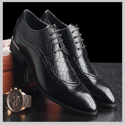 Stylish Wear Resistant Breathable Lace-up Leather Shoes Casual Shoes