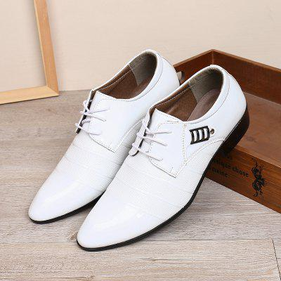 Men Business Non-slip Leather Casual Shoes Durable Lace-up Shoes