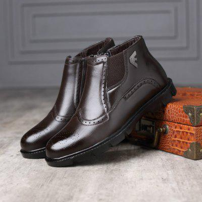 Men Leather Shoes Outdoor Casual Martin Boots
