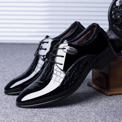 Men Shoes Pointed Toe Formal Business Shoes