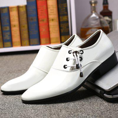 Stylish Wear-resistant Breathable Lace-up Leather Shoes Casual Shoes