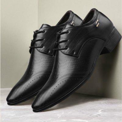Large Size Men Breathable Flat Casual Leather Shoes
