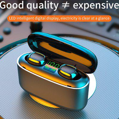 G5S Bluetooth 5.0 True Wireless Earbuds with Microphone Volume Control Long Battery Life Noise Cancelling Stereo in-ear Bluetooth Headphones