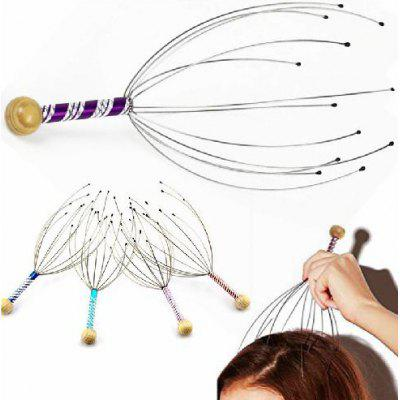 1PC Octopus Head Scalp Relaxation Massage Pain Relief Body Massager Stress Release Relaxing Claw Metal Device Unisex