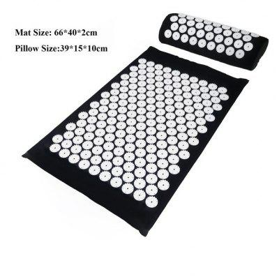 Massage Cushion Yoga Acupressure Mat and Pillow Set Neck Back Foot Massager Pain Stress Relief Acupuncture Pad