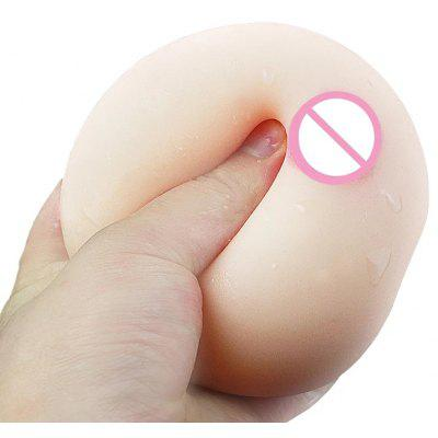 Sexy Toy Portable Soft Breast 3D Female Mold Rubber Massager True Nipple Touch Male Masturbation Sex Toys For Man