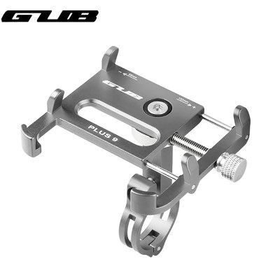 GUB PLUS 9 New 360 Degree Rotation Aluminum Bike Phone Holder For Adjustable Device Bicycle Mobile Phone Stand Scooter Moto Mount Support Handlebar