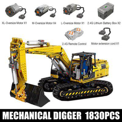 MOULD KING Motorized High-Tech Excavator truck Link Belt 250 X 3 - PF version Truck Model Building Blocks Bricks Kids toys Gifts