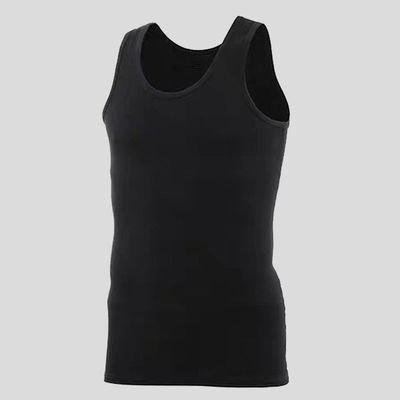 Hot Sale Cotton Mens Sleeveless Tank Top Solid Muscle Vest Undershirts O-neck Underwear High Quality beach Breathable Tees