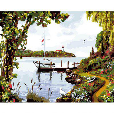DIY Painting By Numbers Modern Wall Art Picture Paint For Home Decor w9340