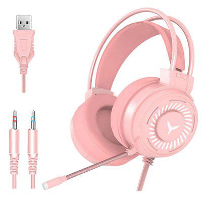 Jeaper Gaming Headsets HT02 Gamer Headphones Surround 4D Sound Stereo Wired Earphones USB Microphone Colourful Light PC Laptop Game Headset