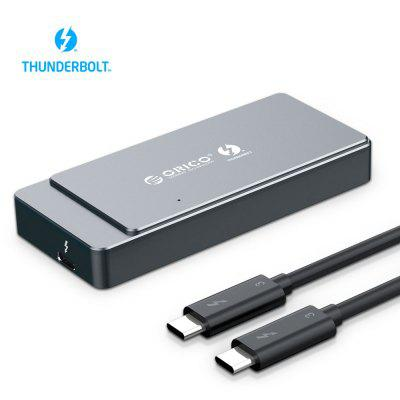 ORICO Thunderbolt 3 M.2 NVME SSD Enclosure 40Gbps Support 2TB Aluminum with C to Cable For Mac Windows