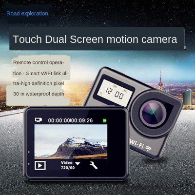 Touch Dual Display WIFI Remote Control Sports Camera Outdoor Sports Waterproof HD Camera DV Image
