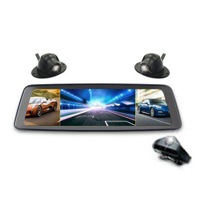 360 Degree 10 Inch Special Cloud Mirror Rear View Driving Recorder Reversing Image Electronic Dog Camera