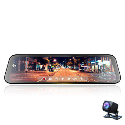 12 Inch 2K Rearview Mirror Driving Recorder Star Night Vision Front And Rear Dual lens Reversing Image Intelligent Voice Controlled Video Recording