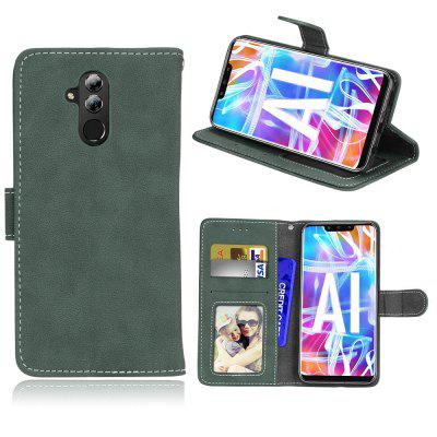 Card Slots Wallet Case Flip Cover PU Leather for Huawei Mate 20 lite / Maimang 7