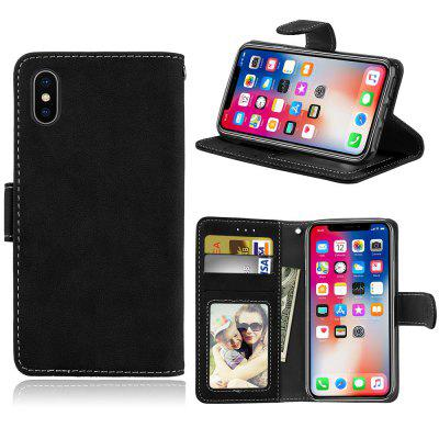 Card Slots Wallet Case Flip Cover PU Leather for  iPhone X 10 Ten