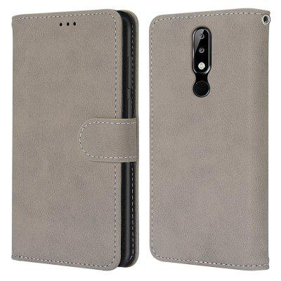 Card Slots Wallet Case Flip Cover PU Leather for Nokia X5 / 5.1 Plus