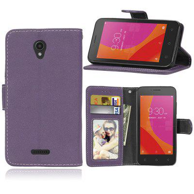 Card Slots Wallet Case Flip Cover PU Leather for Lenovo Vibe B A2016 / A Plus A1010 A20