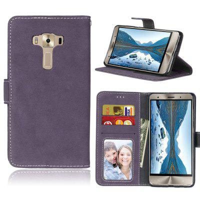 Card Slots Wallet Case Flip Cover PU Leather for Asus ZenFone 3 Deluxe ZS570KL 5.7inch