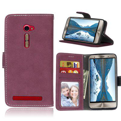 Card Slots Wallet Case Flip Cover PU Leather for Asus ZenFone 2 ZE500CL 5.0inch