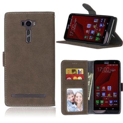 Card Slots Wallet Case Flip Cover PU Leather for Asus ZenFone 2 Laser ZE601KL 6.0inch