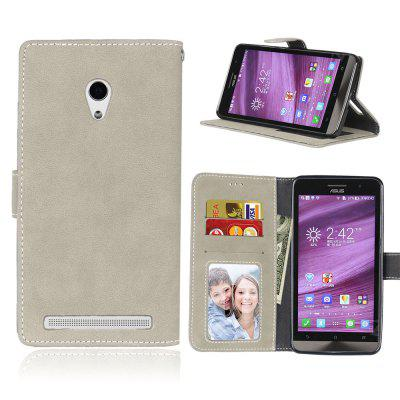 Card Slots Wallet Case Flip Cover PU Leather for Asus ZenFone 6 A600CG A601CG 6.0inch