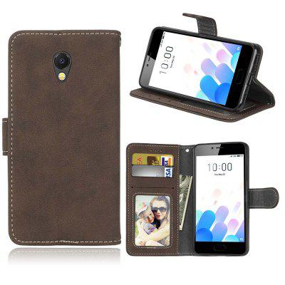 Card Slots Wallet Case Flip Cover PU Leather for Meizu M5c / A5