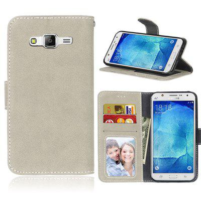 Card Slots Wallet Case Flip Cover PU Leather for Samsung Galaxy J5 J500