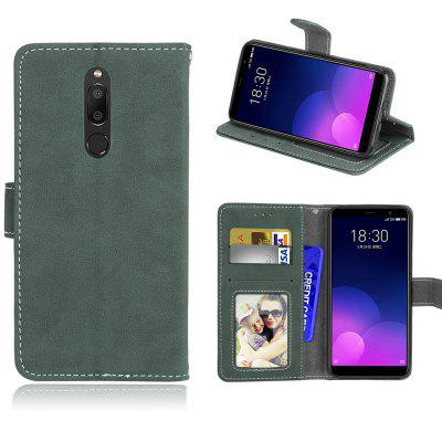 Card Slots Wallet Case Flip Cover PU Leather for Meizu M6T / Meiblue 6T Meilan