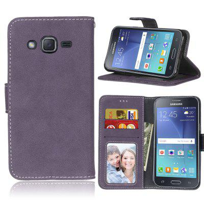 Card Slots Wallet Case Flip Cover PU Leather for Samsung Galaxy J2 J200F