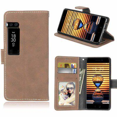 Card Slots Wallet Case Flip Cover PU Leather for Meizu Pro 7