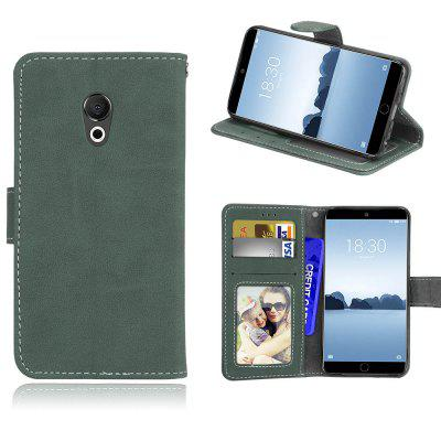Card Slots Wallet Case Flip Cover PU Leather for Meizu 15 Lite  / M15