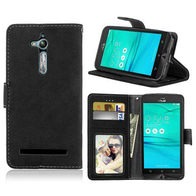 Card Slots Wallet Case Flip Cover PU Leather for Asus Zenfone Go ZB500KL 5.0inch