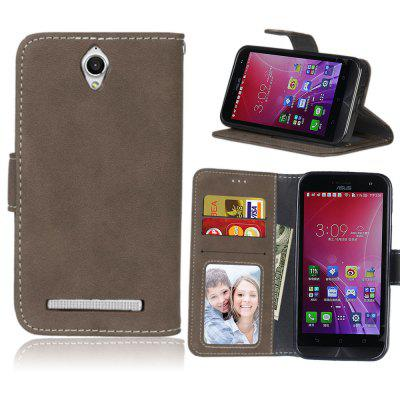 Card Slots Wallet Case Flip Cover PU Leather for Asus ZenFone Go ZC451TG 4.5inch
