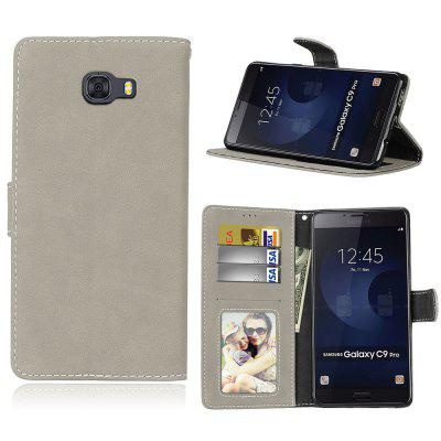 Card Slots Wallet Case Flip Cover PU Leather for Samsung Galaxy C9 Pro
